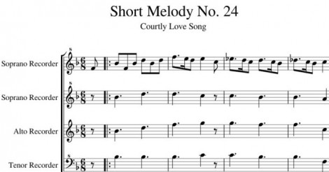 Short Melody No. 24 Courtly Love Song