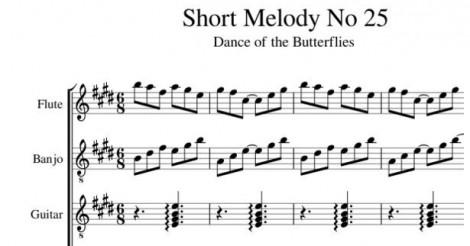Short Melody No. 25 Dance of the Butterflies