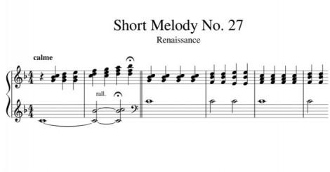 Short Melody No. 27 Renaissance