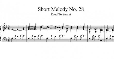 Short Melody No. 28 Road To Sunset