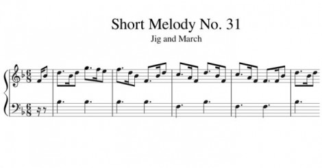 Short Melody No. 31 Jig and March