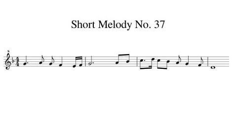 Short Melody No. 37