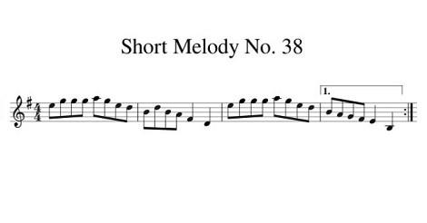 Short Melody No. 38