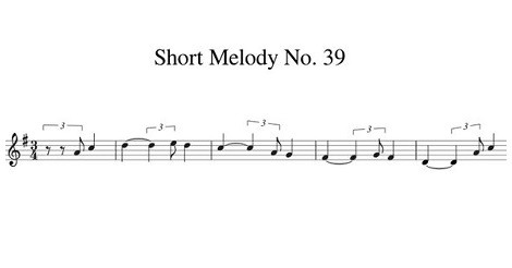 Short Melody No. 39
